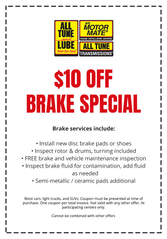Brake Coupan - All tune and Lube